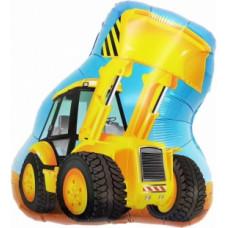 Шар (24''/61 см) Фигура, Экскаватор, Желтый