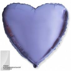 Шар (18''/46 см) Сердце, Сиреневый фейерверк